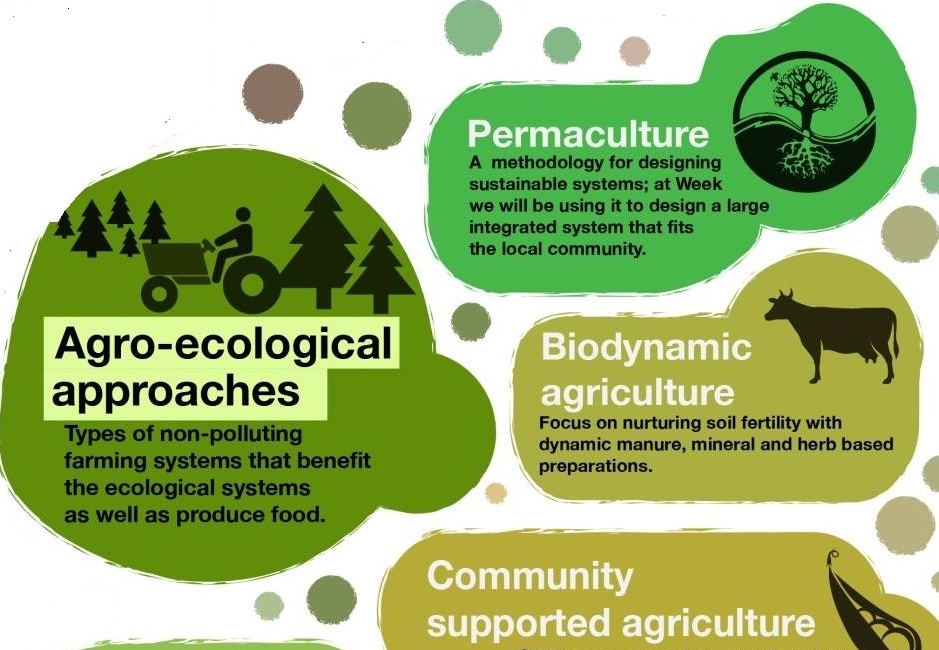graphic of different agro-ecological approaches