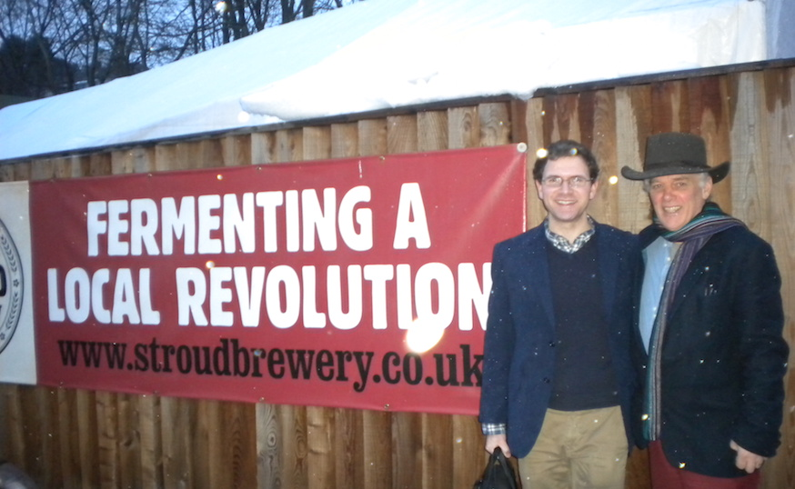 Martin Large and Jamie Mansfield at Stroud Brewery