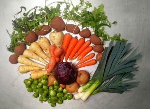 Christmas veg from Huxhams Cross Farm