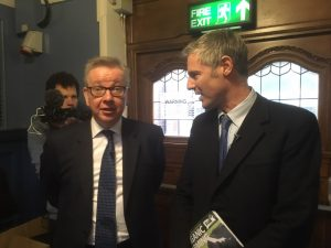Michael Gove secretary of state at the Oxford Real Farming conference 2018