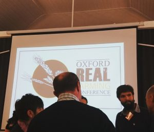 Kees Frederiks answering questions at Oxford Real Farming Conference 2018;