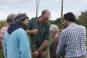 Stirring biodynamic preprations to heal the land at Huxhams Cross Farm