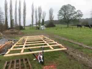 Mobile chicken coop build on caravan chassis Oakbrook Farm, Stroud
