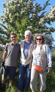 Martin Large, Biodynamic Land Trust founder, Peter Garlick and Ellen Appleton