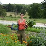 successful starter farmer, produce and biodiversity flowers