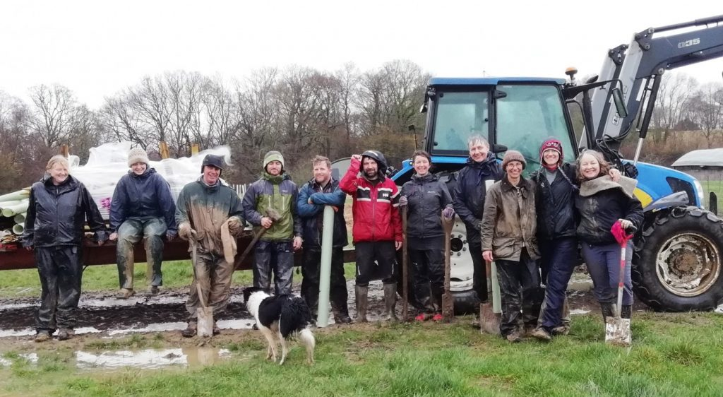 Volunteers on Tablehurst tree planting day March 2019